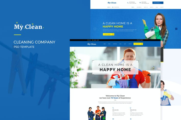 Thumbnail for MyClean : Cleaning Company PSD Template