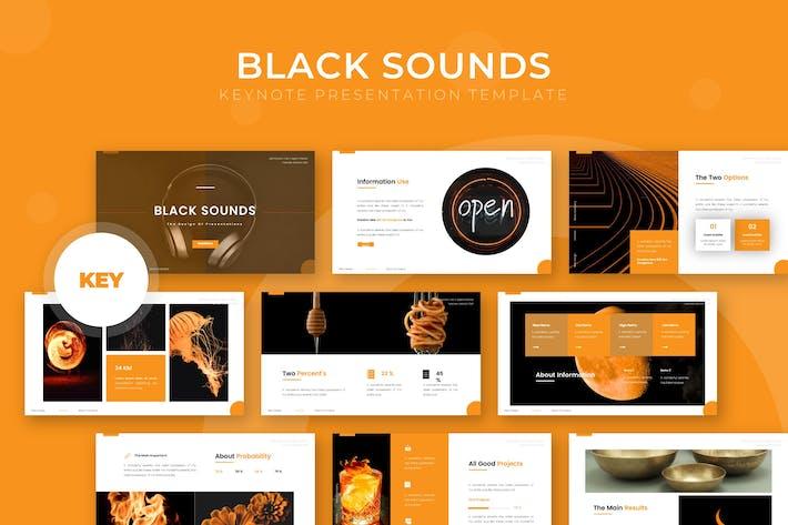 Черные звуки - Шаблон Keynote