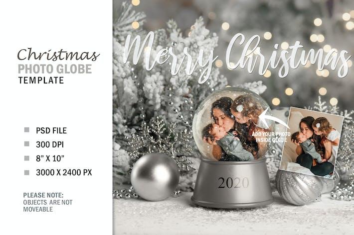 Thumbnail for Christmas Winter Snow Globe Digital Photo Gift