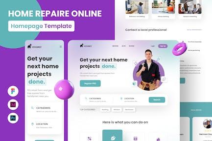 Renov - Page d'accueil du site de réparation à domicile