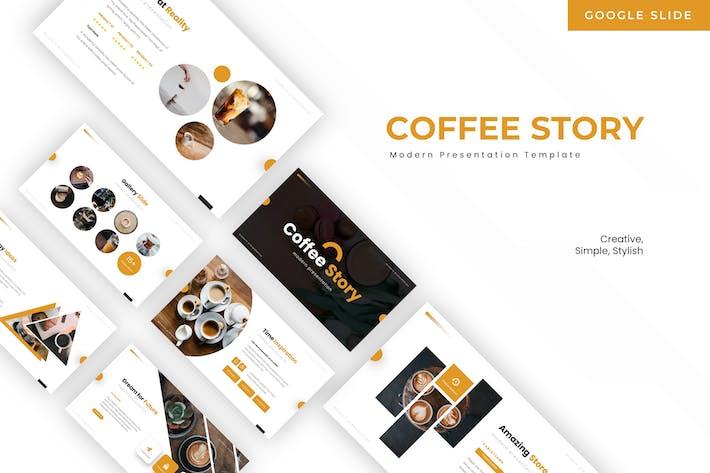 Thumbnail for История кофе-слайд - Шаблон Google