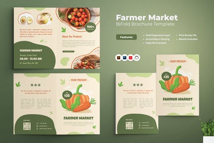 Brochure bifold Market