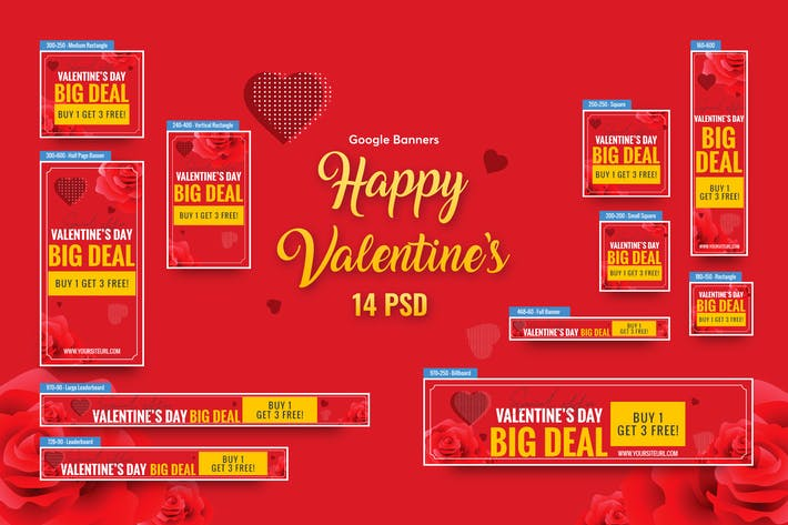 Thumbnail for Valentine's Day Big Sale Banners Ad