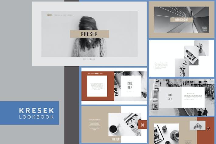 Thumbnail for Kresek Lookbook - Powerpoint Template