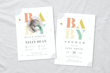 Baby Shower & Baby Announcement Flyer