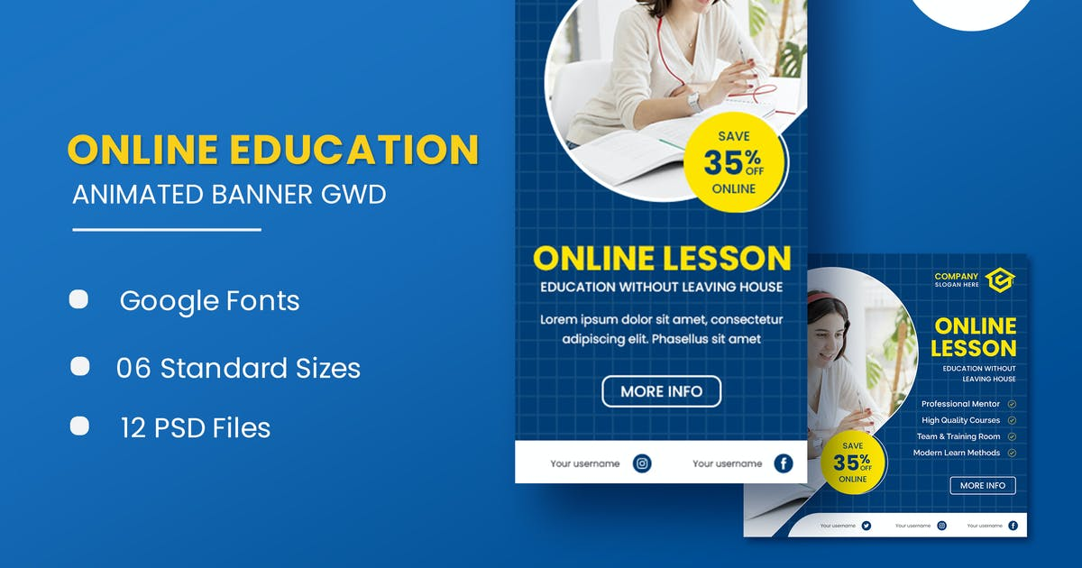 Download Online Course Animated Banner GWD by IsLein