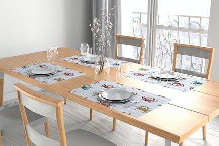 Place Settings Individual Tablecloths Mockup