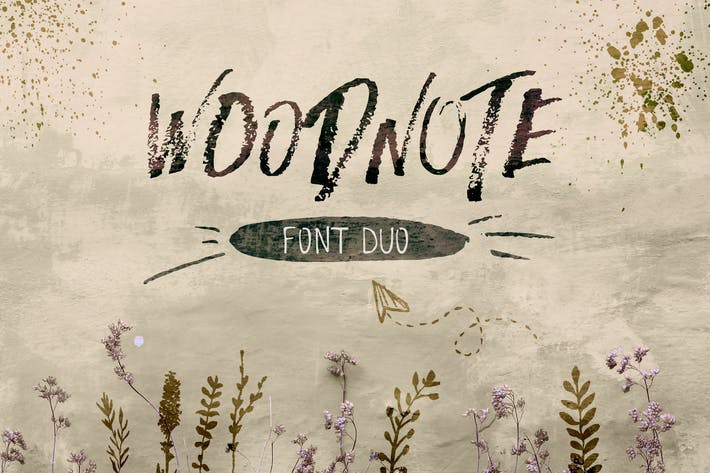 Thumbnail for Woodnote Font Duo Negro
