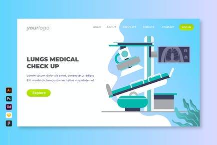 Lungs Medical Check Up - Landing Page