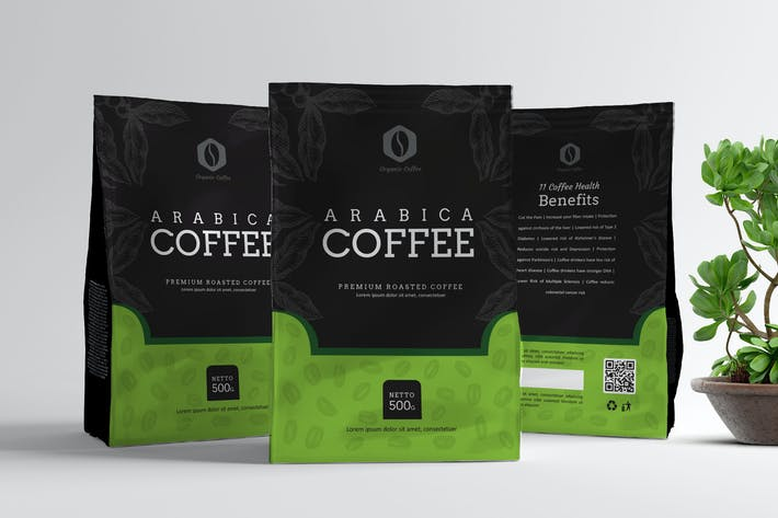 Thumbnail for Coffe Pouch Packaging Template V1