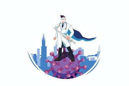Superhelden-Doktor kämpft mit Virus - COVID19