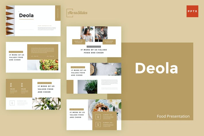 Thumbnail for Deola - Food Powerpoint Template