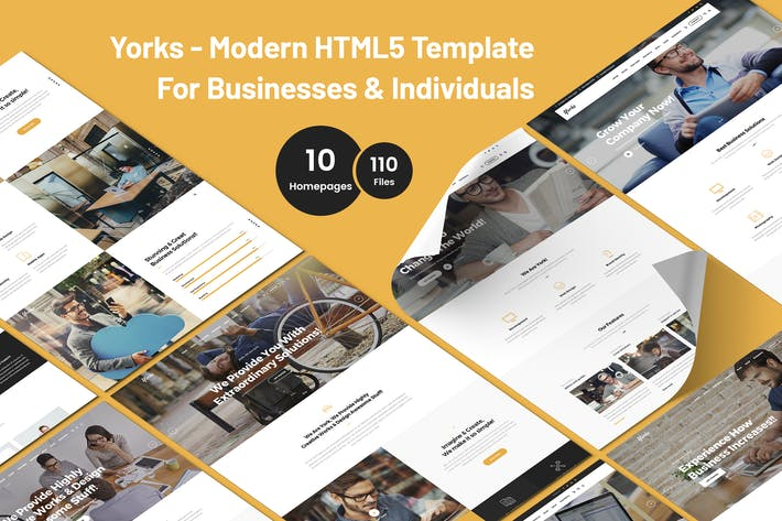Thumbnail for Yorks - Businesses & Individuals HTML5 Template