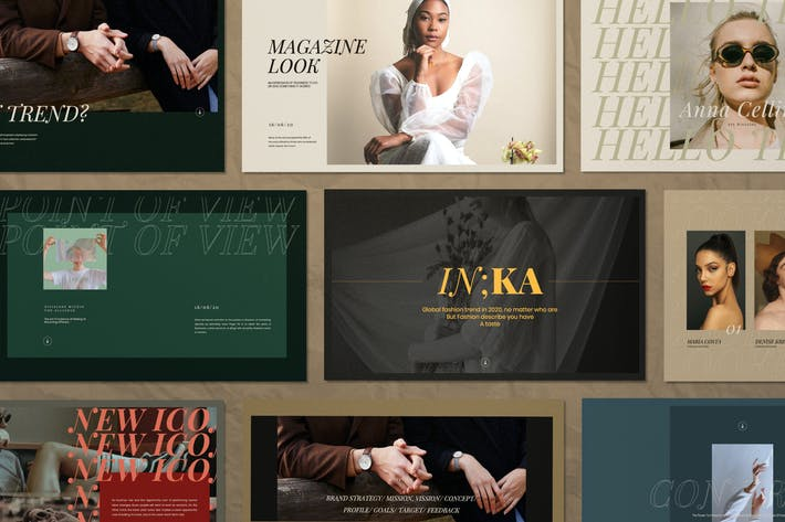 Thumbnail for Iconic - Lookbook Fashion Powerpoint Templates