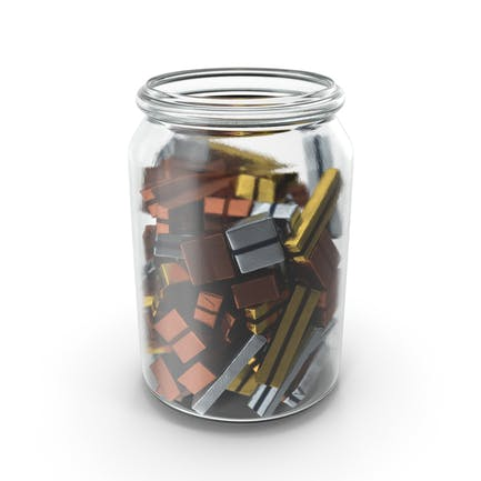 Jar with Wrapped Chocolate Candy