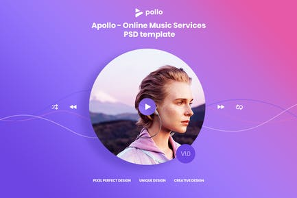 APOLLO - Online Music PSD Template ( Version 1.0 )