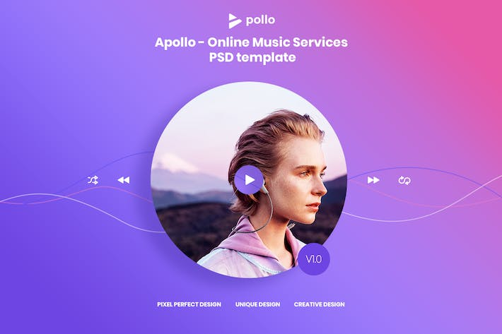 Thumbnail for APOLLO - Online Music PSD Template ( Version 1.0 )
