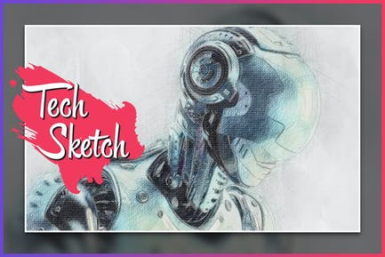 Tech Sketch CS4+ Photoshop Action