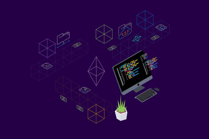 Thumbnail for Blockchain Platform Isometric Illustration 8