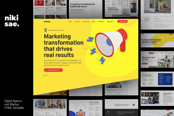 Thumbnail for Nikisae - Digital Marketing Agency HTML Template