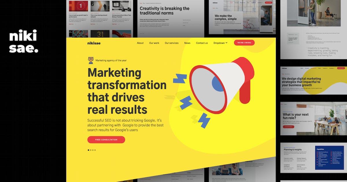 Download Nikisae - Digital Marketing Agency HTML Template by deTheme