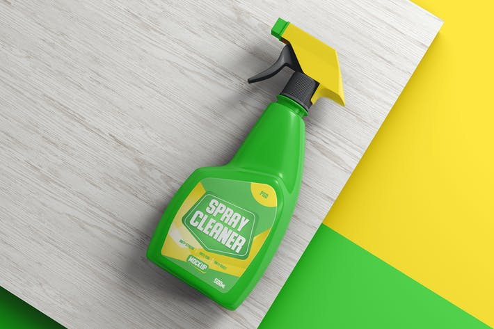 Thumbnail for Spray Cleaner Bouteille Mockup