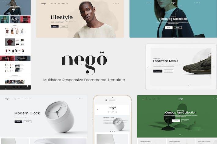 Thumbnail for Nego - Minimalist Responsive Magento Theme