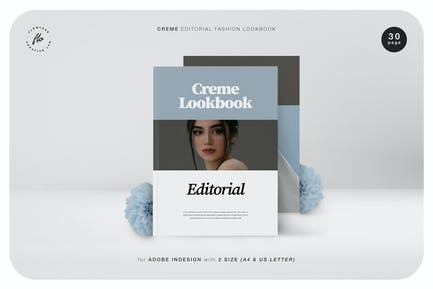 Creme Editorial Fashion Lookbook
