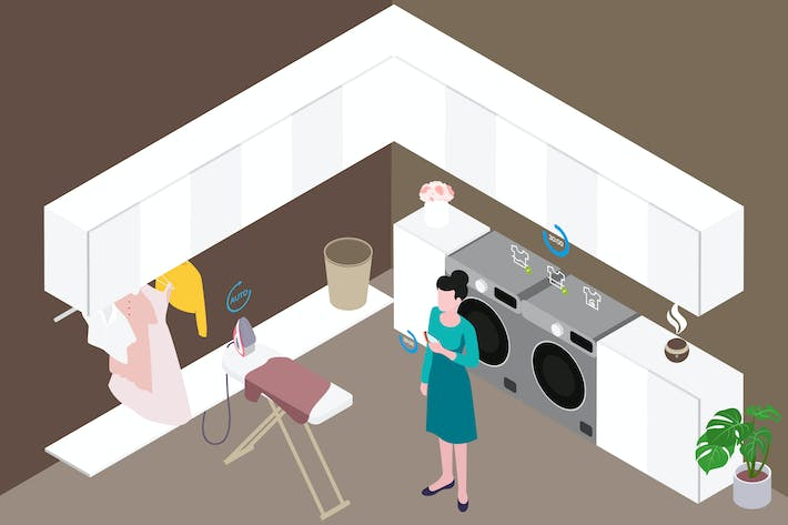 Thumbnail for Smart Home Clean Isometric Illustration