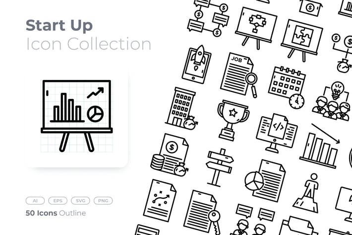 Thumbnail for Start Up Outline Icon
