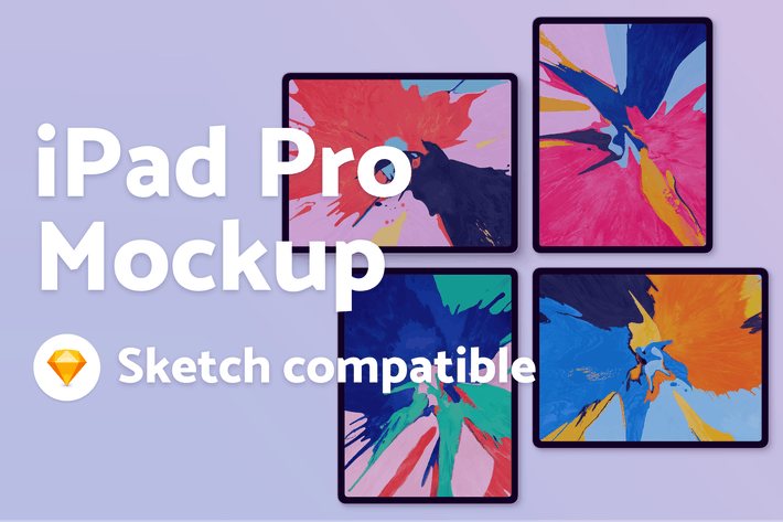 Thumbnail for iPad Pro Mockup - Sketch