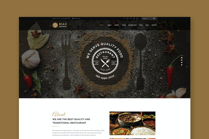 Thumbnail for Max Restaurant - Restaurant & Food PSD Template