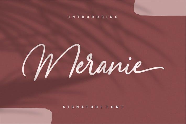 Thumbnail for Meranie - Signature Font
