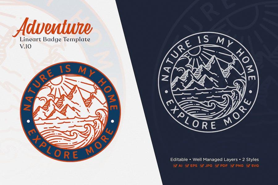 Adventure Monoline Logo Badge Template V.10
