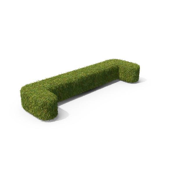 Símbolo de soporte abierto de hierba en el suelo