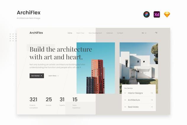 ArchiFlex - Modern Architecture Website Landing UI