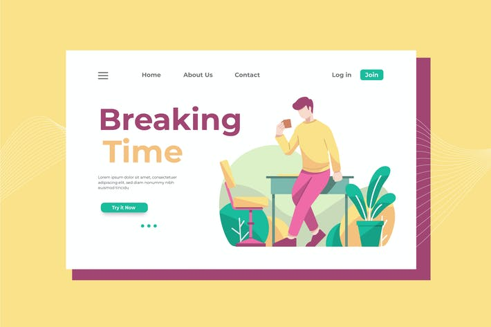 Cover Image For Breaking Time Landing Page Illustration