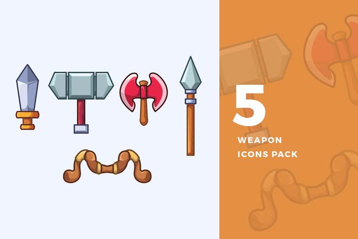 Thumbnail for 5 RPG Weapon Icons Pack