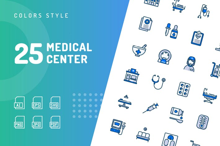 Thumbnail for Medical Center Color Icons