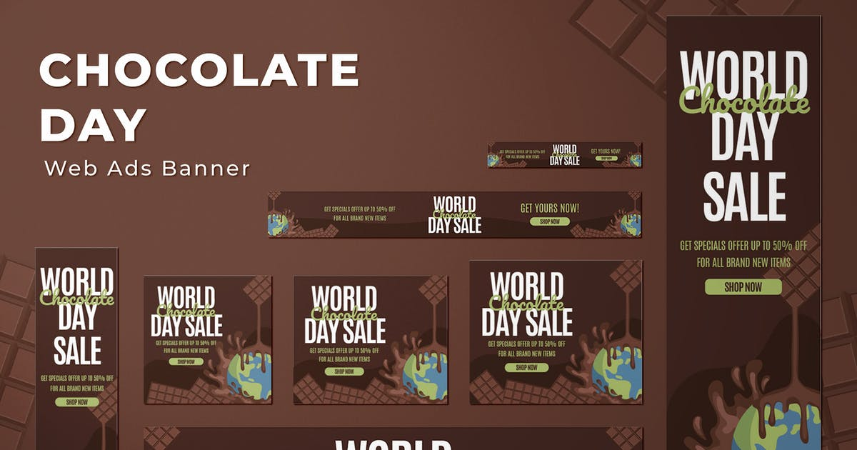 Download Web Ads Banners - World Chocolate Day by SlideFactory