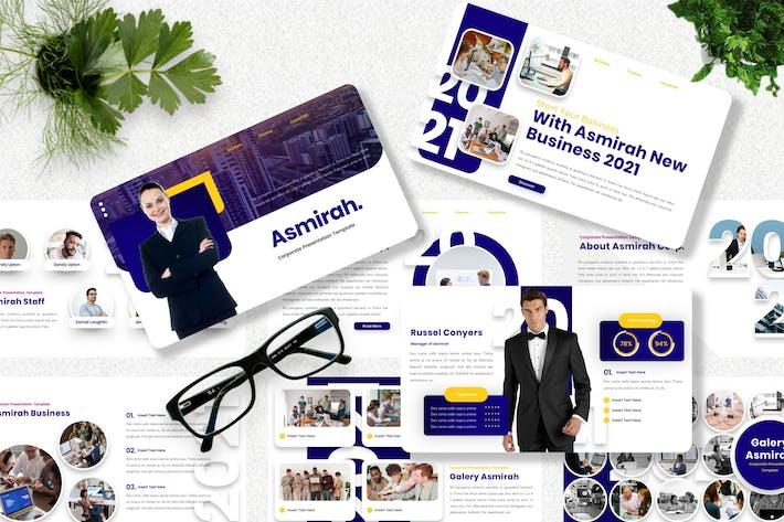 Thumbnail for Asmirah - Корпоративный шаблон Powerpoint