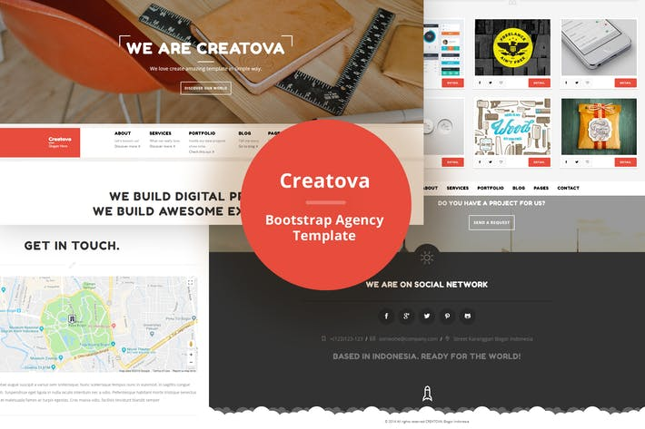 Thumbnail for Creatova - Bootstrap Agency Template