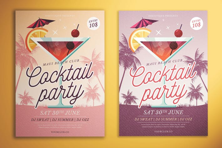 Cover Image For Cocktail Party Flyer