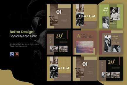 Better Design Vintage | Instagram Post