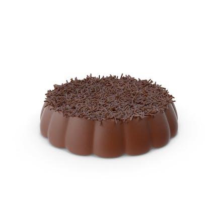 Disk Schokolade mit Schokoladen-Pops