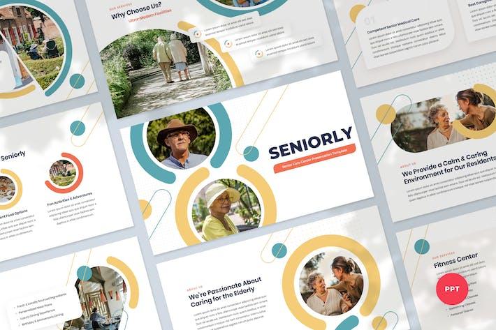 Senior Care Presentation PowerPoint Template