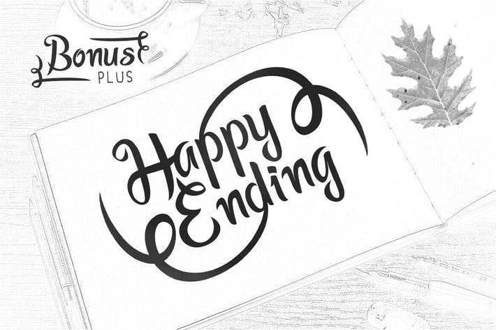 Thumbnail for Happy Ending Typeface