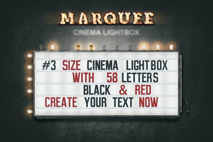 Cover Image For Marquee Light Bulbs Front 3 - Cinema Lightbox