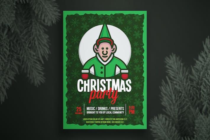 Thumbnail for Christmas flyer template