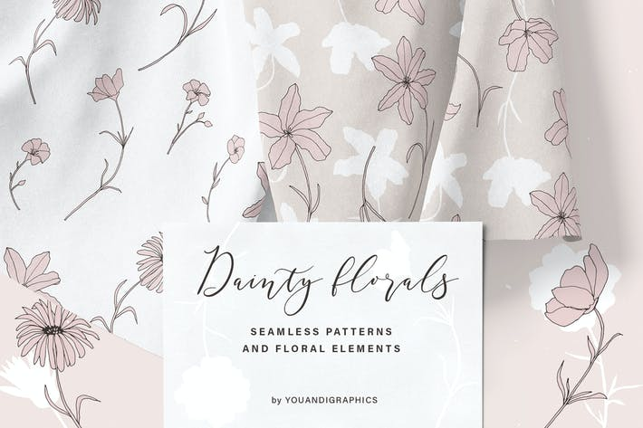 Thumbnail for Dainty Floral Patterns & Elements